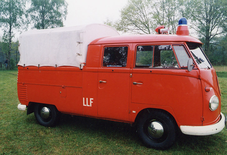 double cab fire truck